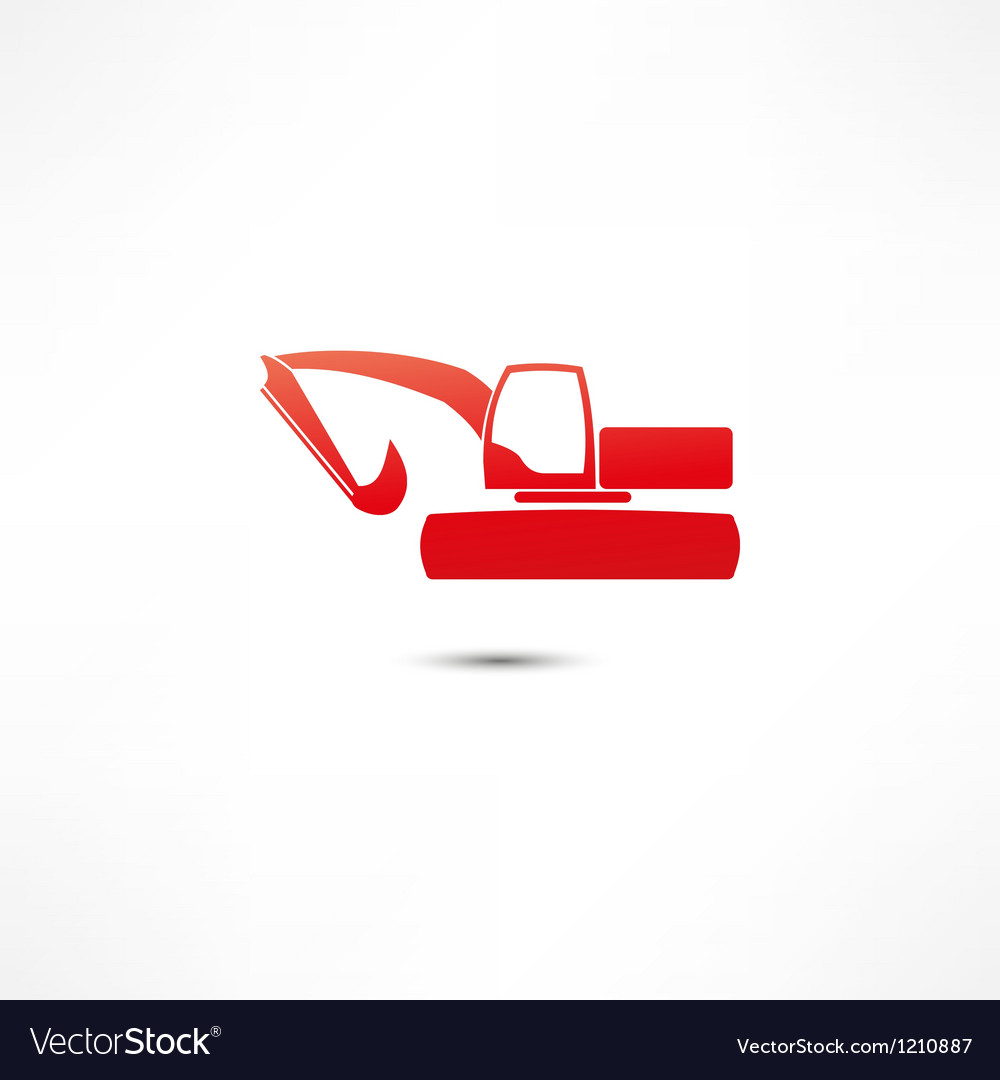 Excavator icon vector | Price: 1 Credit (USD $1)