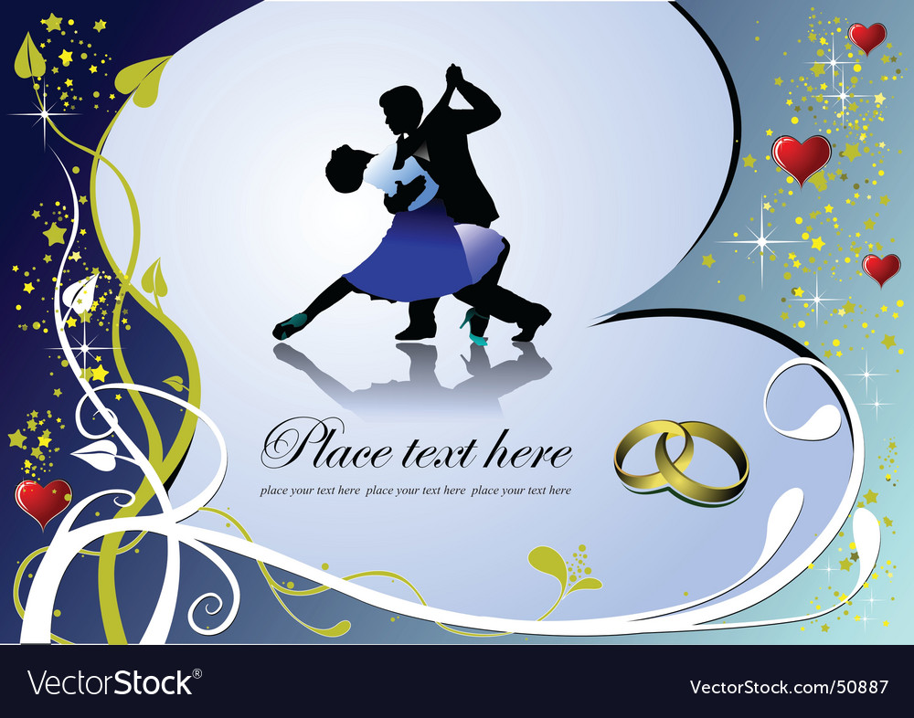 Heart and dance vector | Price: 1 Credit (USD $1)