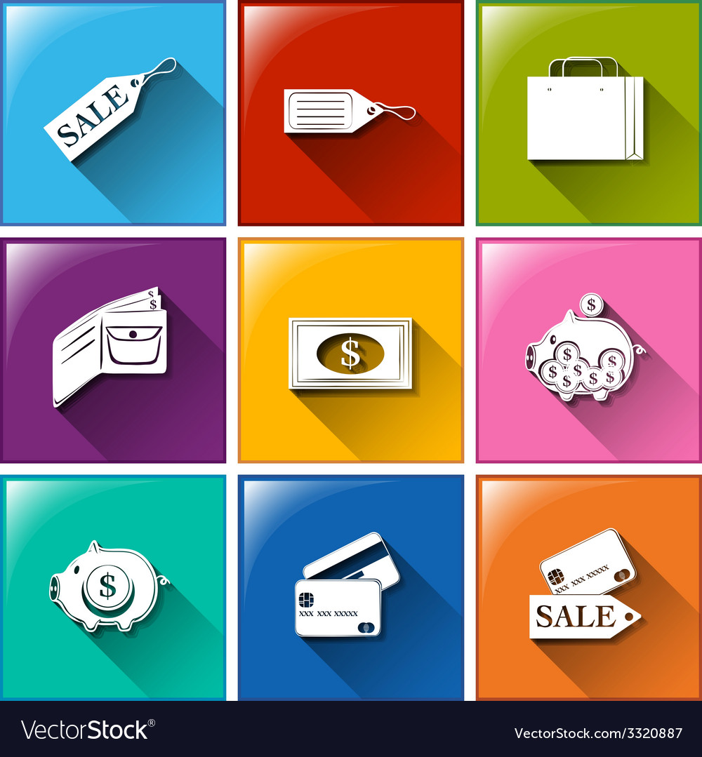 Icons for spending vector | Price: 1 Credit (USD $1)