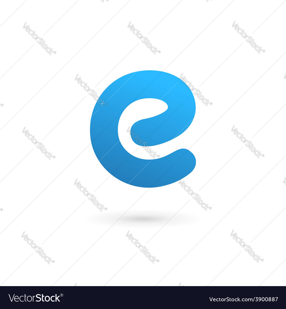 Letter e logo icon design template elements vector | Price: 1 Credit (USD $1)