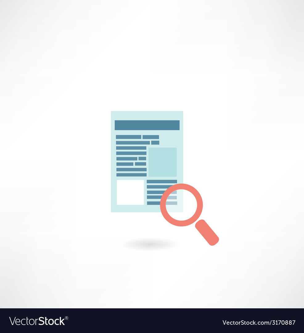 Page on the internet under the magnifying glass vector | Price: 1 Credit (USD $1)