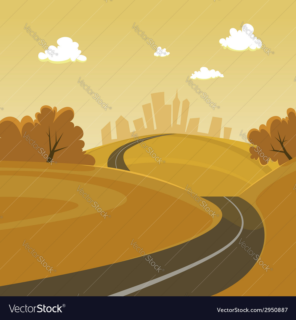 Road to the city vector | Price: 3 Credit (USD $3)