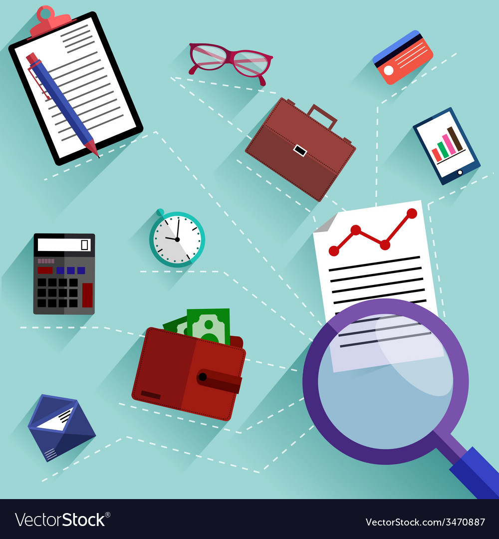 Routine business objects concept vector | Price: 1 Credit (USD $1)