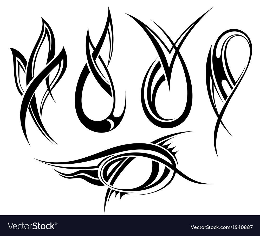 Tattoo elements vector   Price: 1 Credit (USD $1)