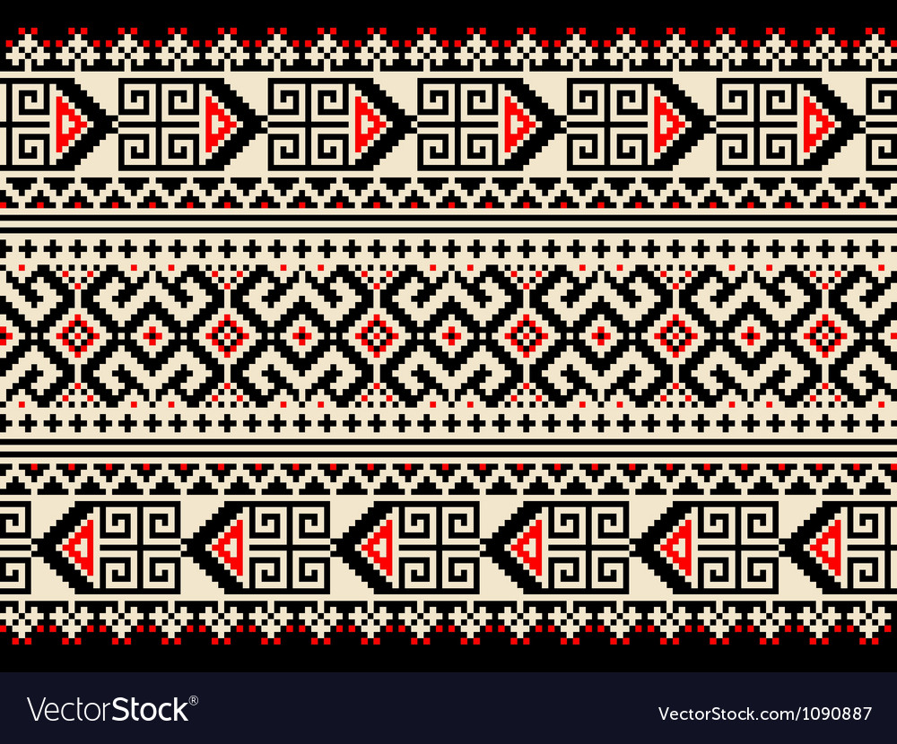 Ukrainian pattern ornament vector | Price: 1 Credit (USD $1)