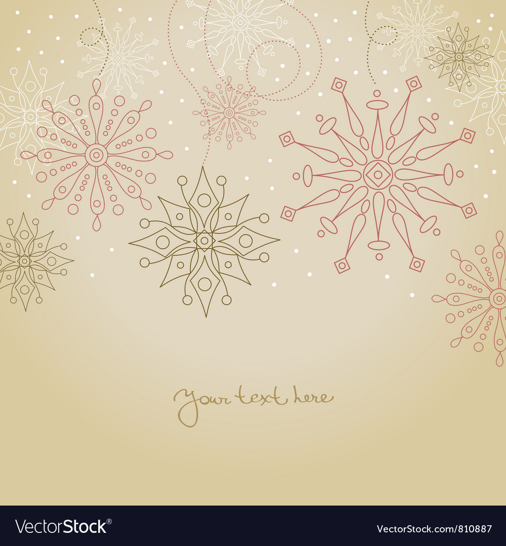 Vintage christmas background vector | Price: 1 Credit (USD $1)
