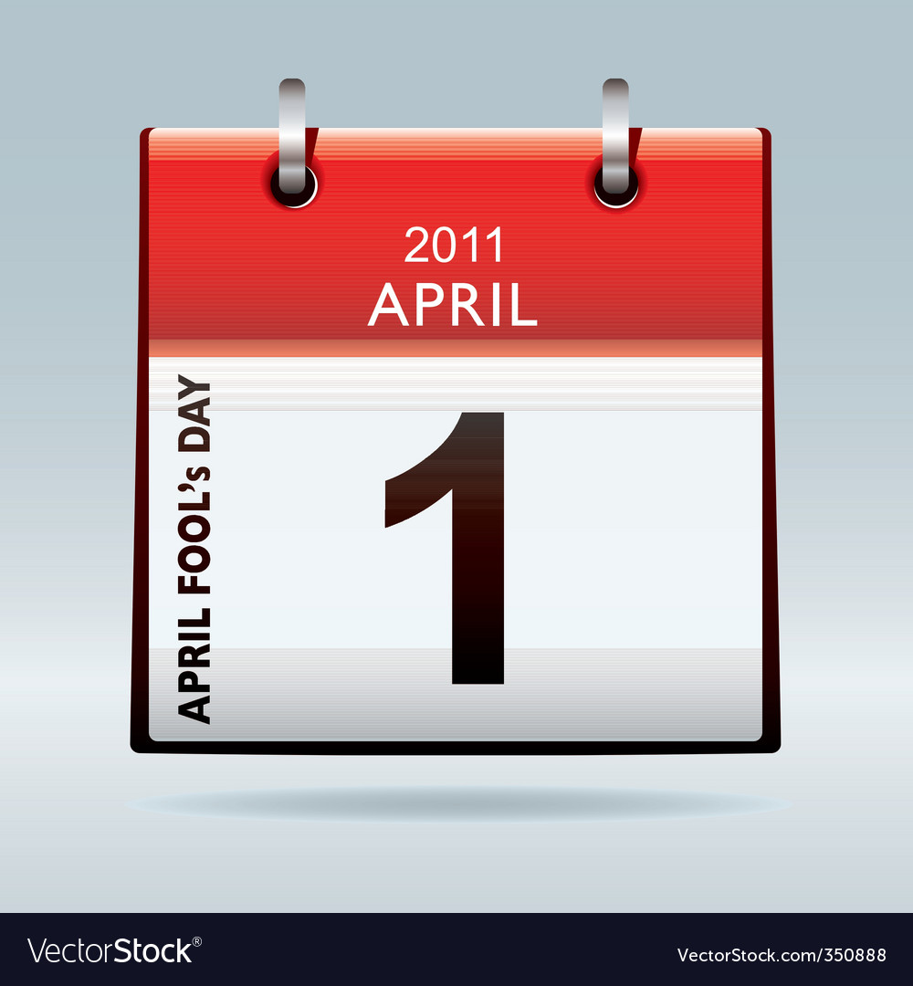 April fools day calendar vector | Price: 1 Credit (USD $1)