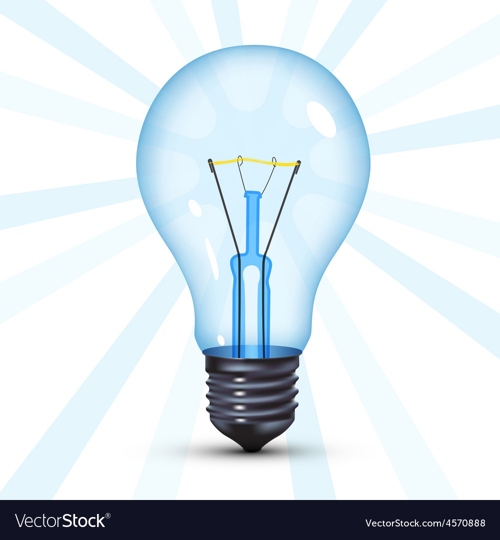Black light bulb vector | Price: 1 Credit (USD $1)