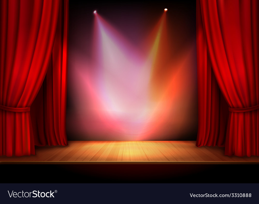 Curtain with lights vector | Price: 1 Credit (USD $1)
