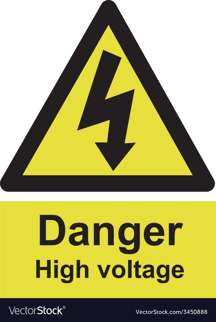 Danger high voltage safety sign vector | Price: 1 Credit (USD $1)