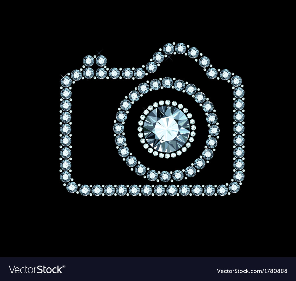Diamond photo camera vector | Price: 1 Credit (USD $1)