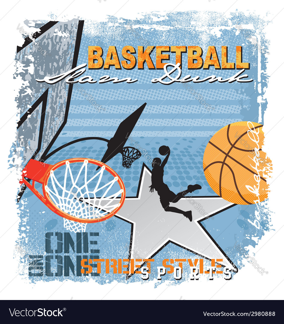 Dunk basket ball vector | Price: 1 Credit (USD $1)