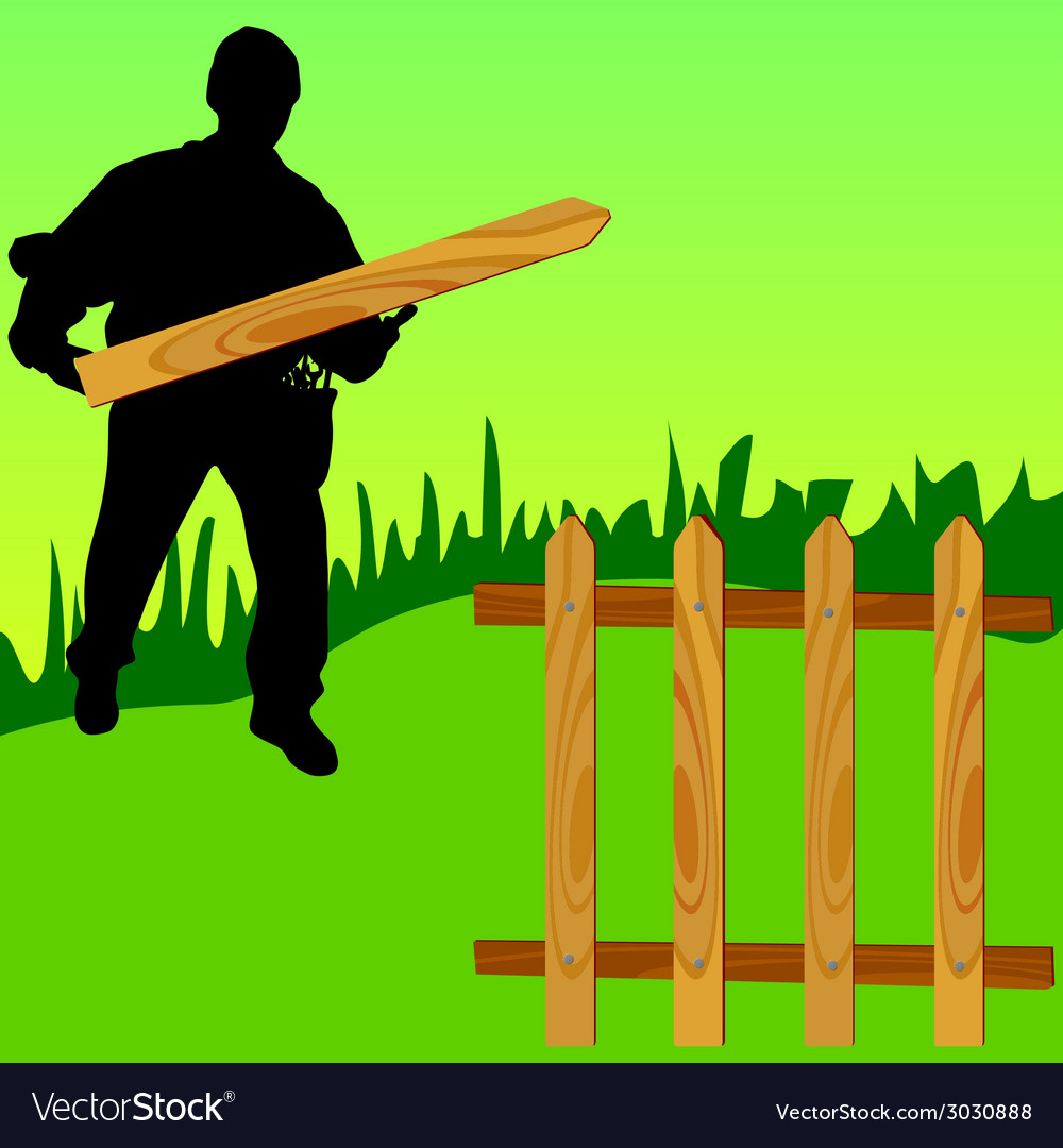 Employee make the railing vector | Price: 1 Credit (USD $1)