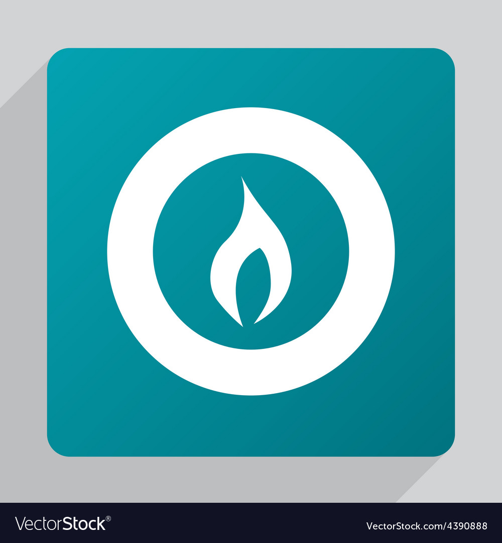 Flat fire icon vector | Price: 1 Credit (USD $1)