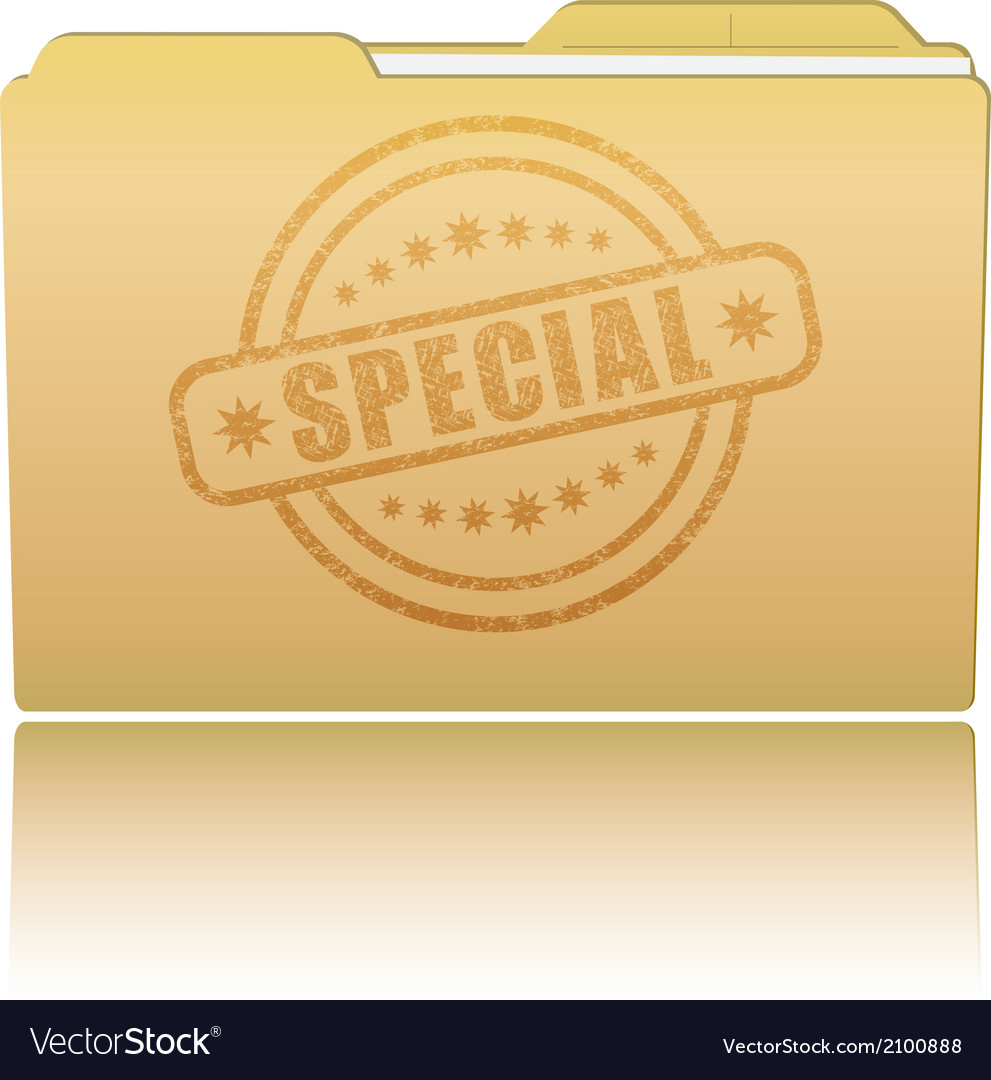 Folder with special damaged stamp vector | Price: 1 Credit (USD $1)