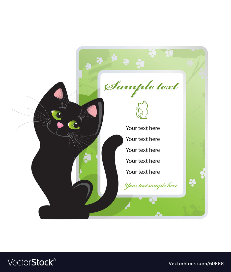 Frame and black cat vector | Price: 1 Credit (USD $1)