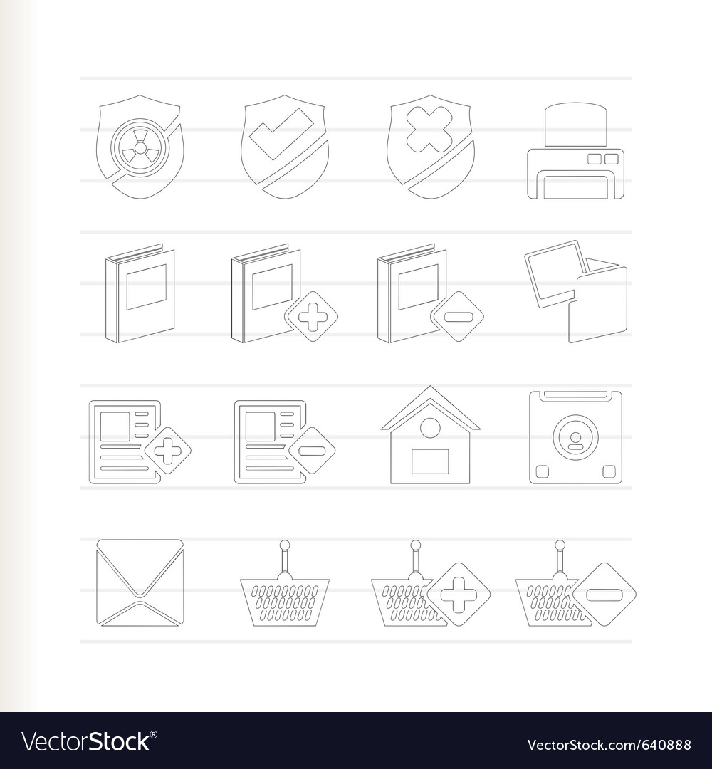 Internet and website buttons and icons vector | Price: 1 Credit (USD $1)