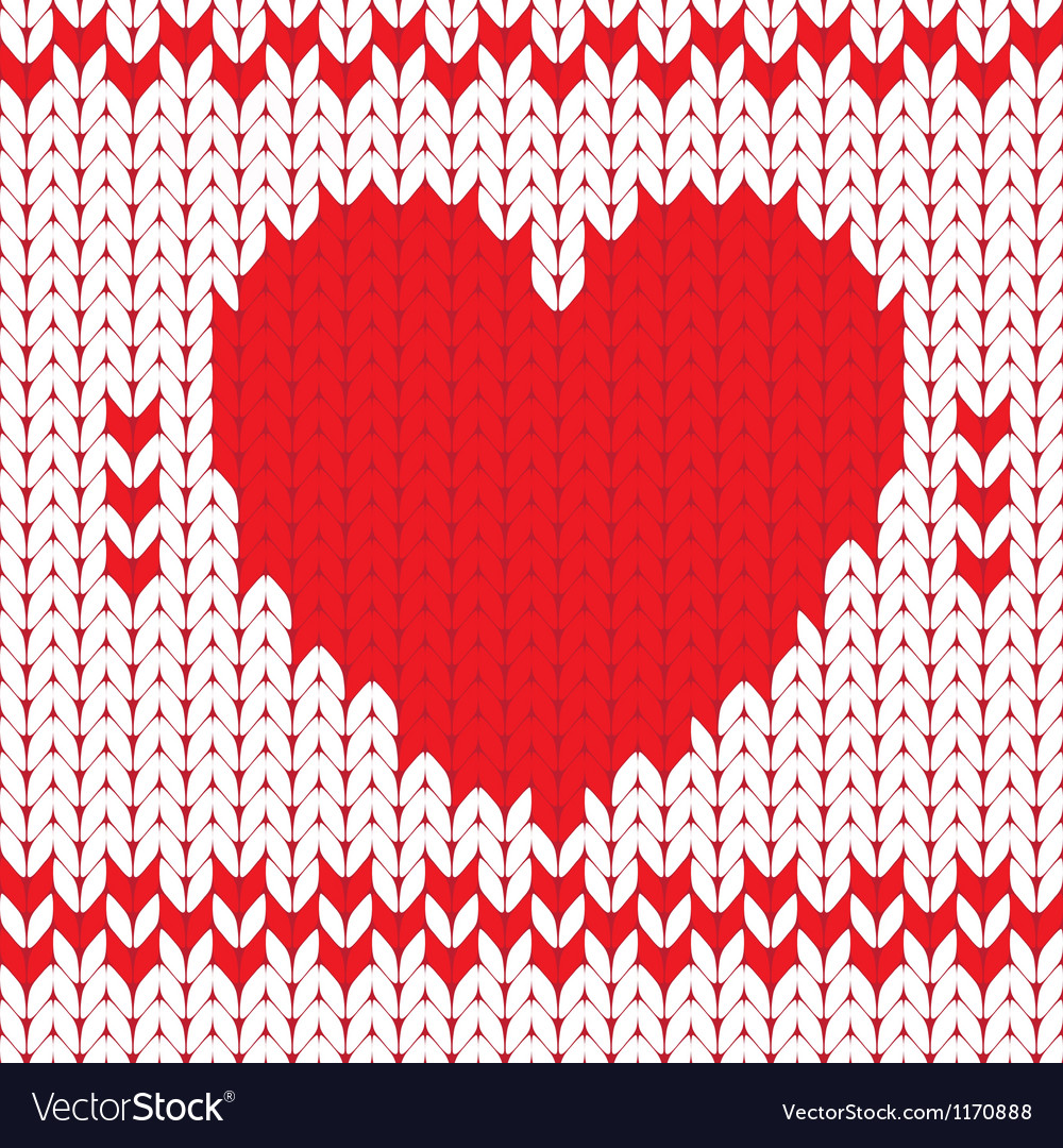 Knitted textile decorative valentine heart vector | Price: 1 Credit (USD $1)