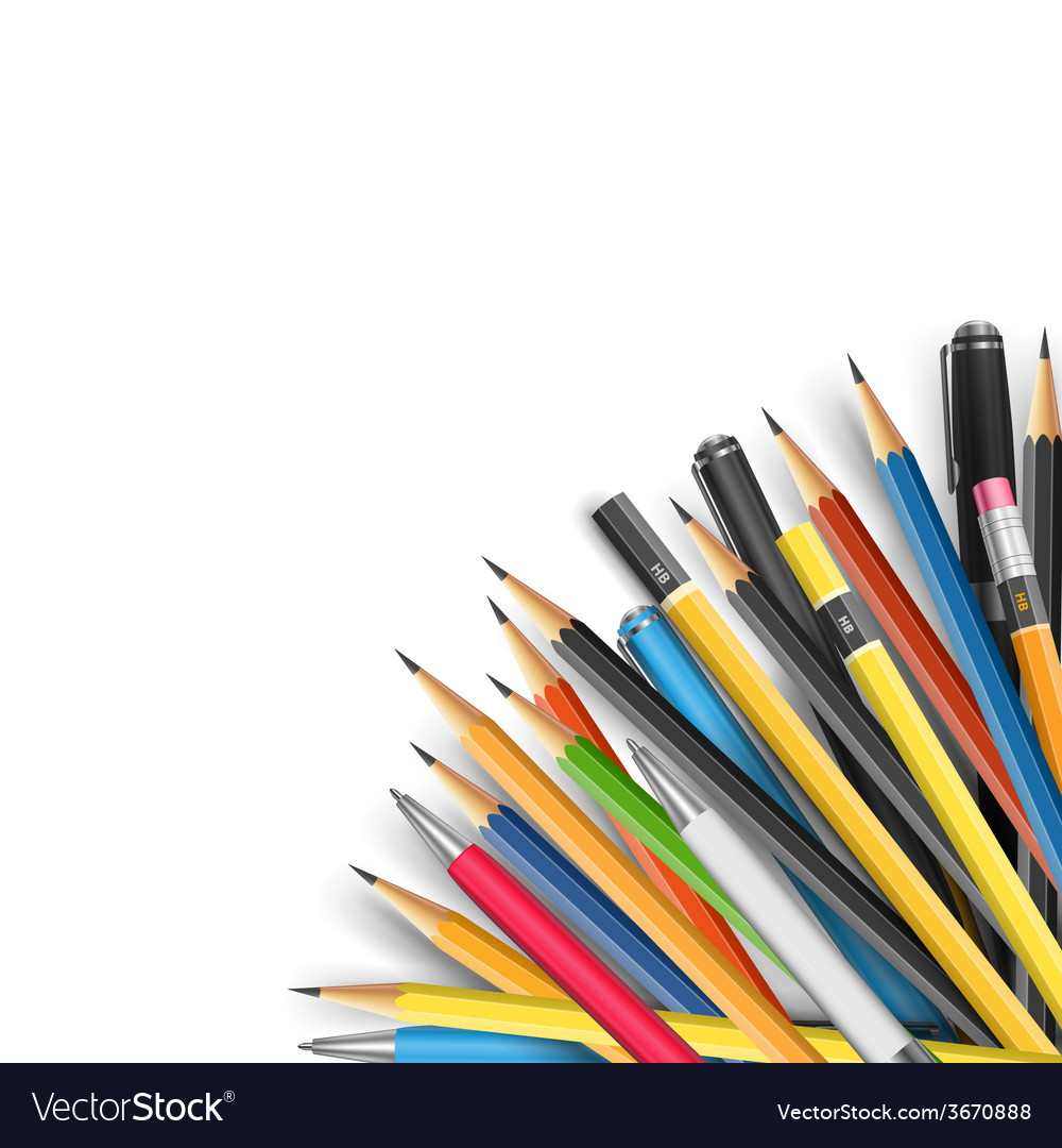Mass pencils vector | Price: 1 Credit (USD $1)