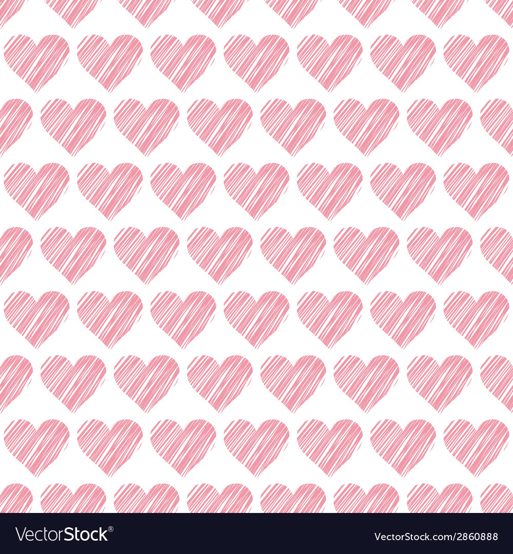 Romantic seamless pattern with hearts beautiful vector   Price: 1 Credit (USD $1)