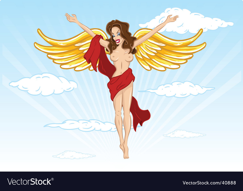 Sexy angel illustration vector | Price: 1 Credit (USD $1)