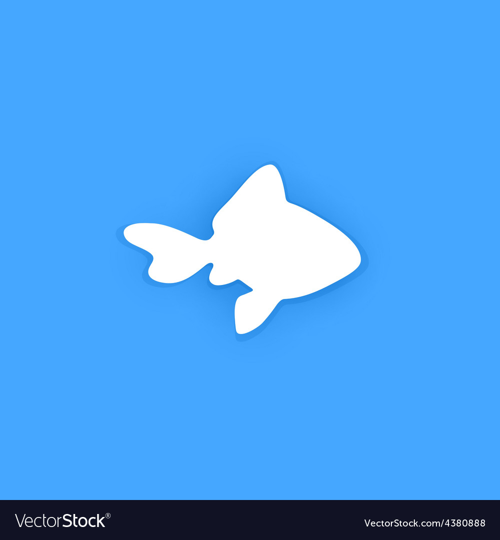 Silhouette of goldfish vector | Price: 1 Credit (USD $1)