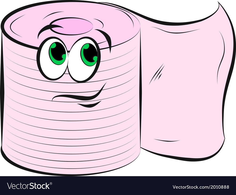 Toilet paper smiling vector | Price: 1 Credit (USD $1)