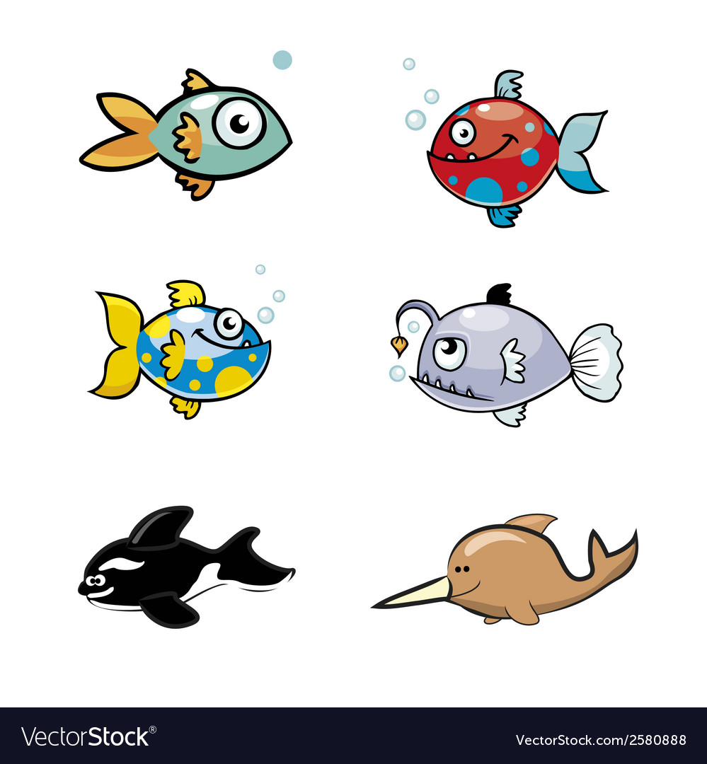 Various cute fishes collection vector | Price: 1 Credit (USD $1)