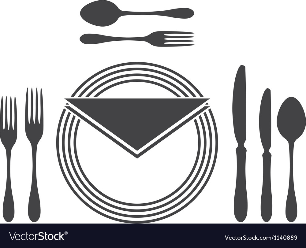 Etiquette proper table setting vector | Price: 1 Credit (USD $1)