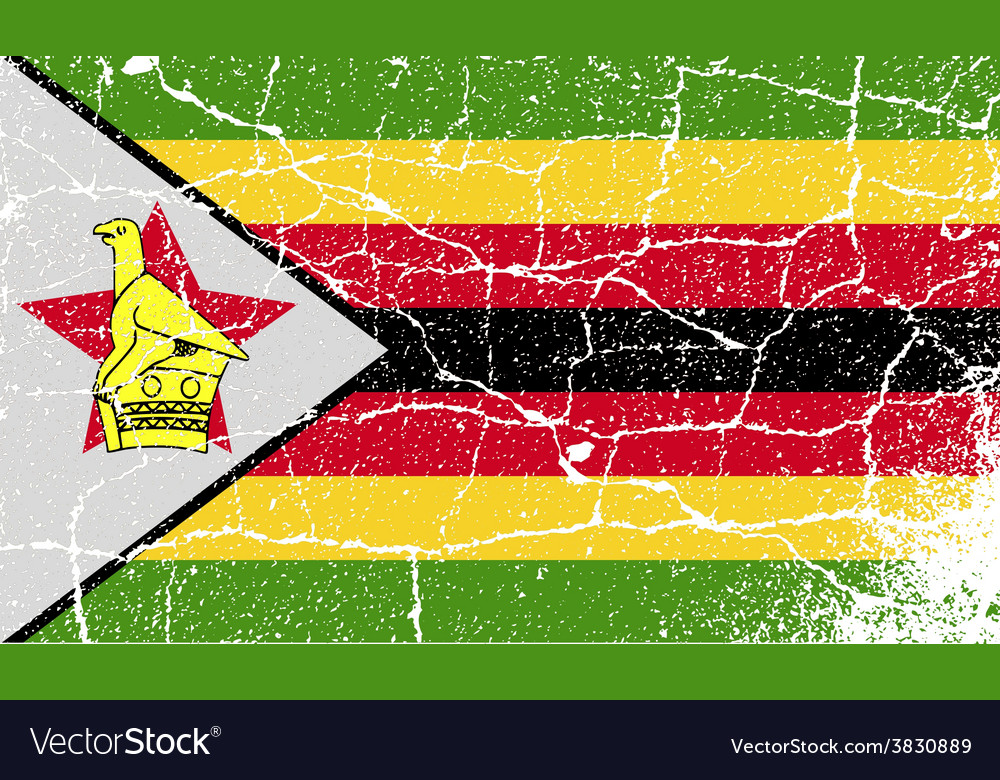 Flag of zimbabwe with old texture vector   Price: 1 Credit (USD $1)
