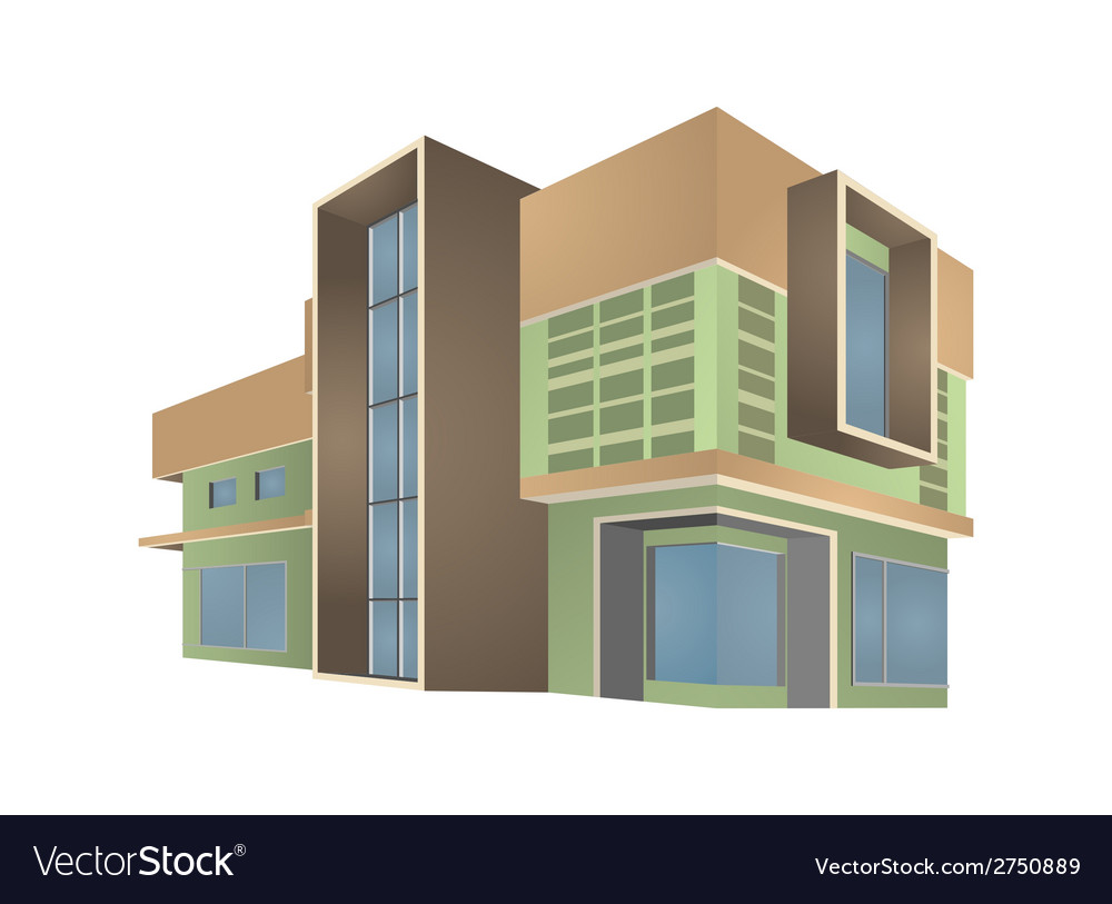 Modern home style vector | Price: 1 Credit (USD $1)