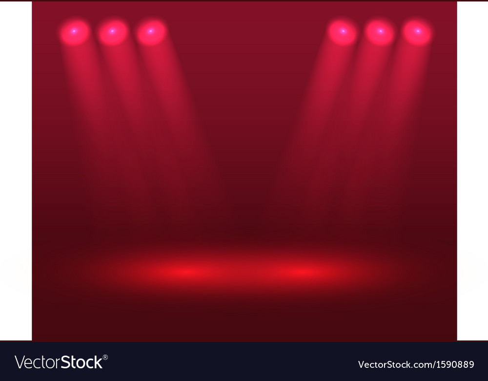 Red lights on the stage vector | Price: 1 Credit (USD $1)