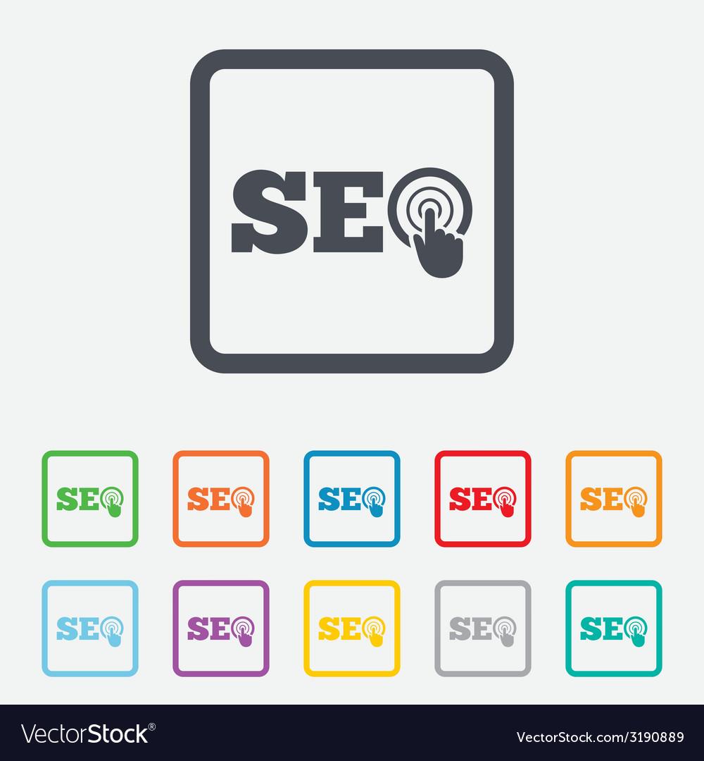 Seo sign icon search engine optimization symbol vector   Price: 1 Credit (USD $1)