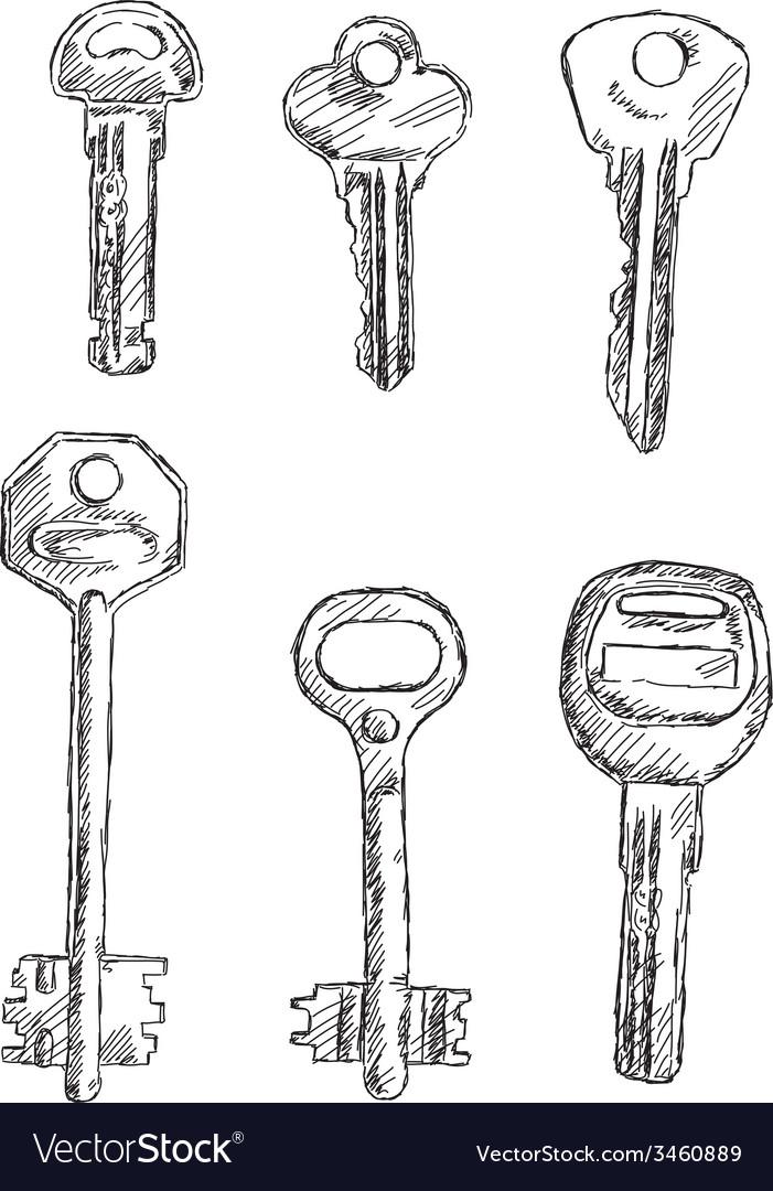 Set of keys vector | Price: 1 Credit (USD $1)