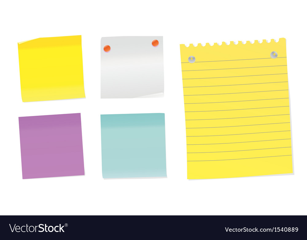 Set of notes vector