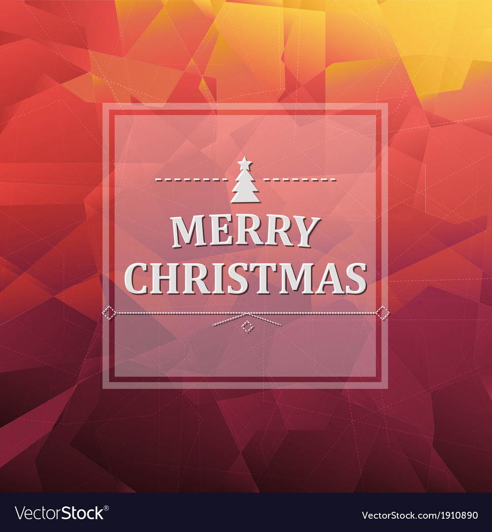 Abstract triangle background with xmas banner vector | Price: 1 Credit (USD $1)