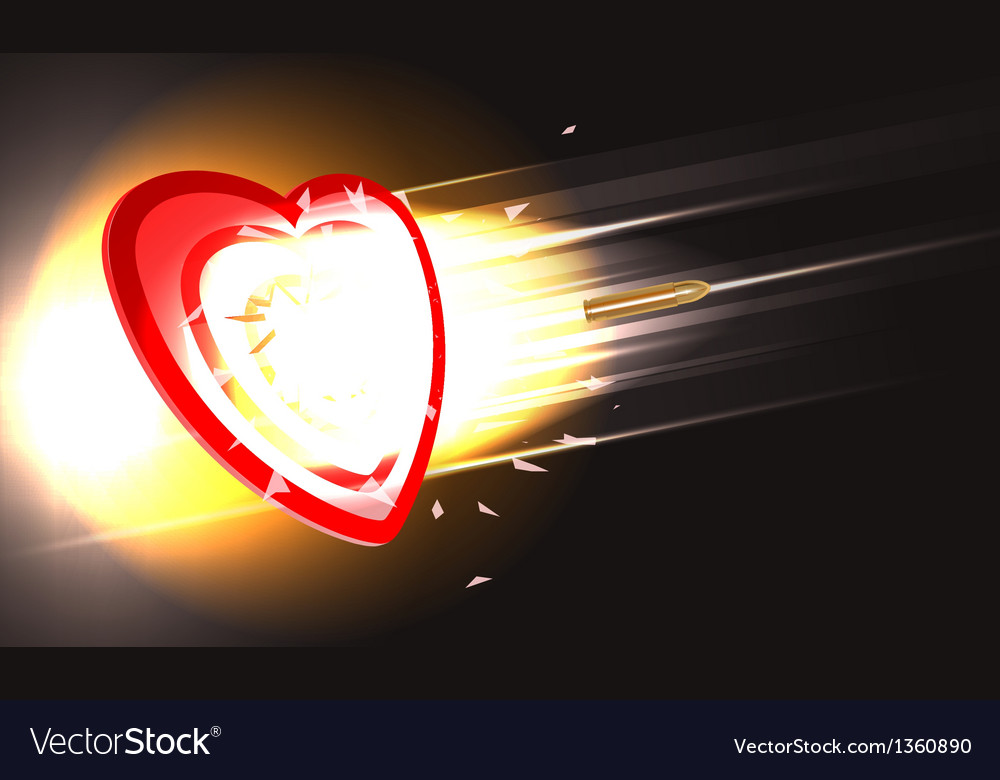 Bullet through heart vector | Price: 1 Credit (USD $1)