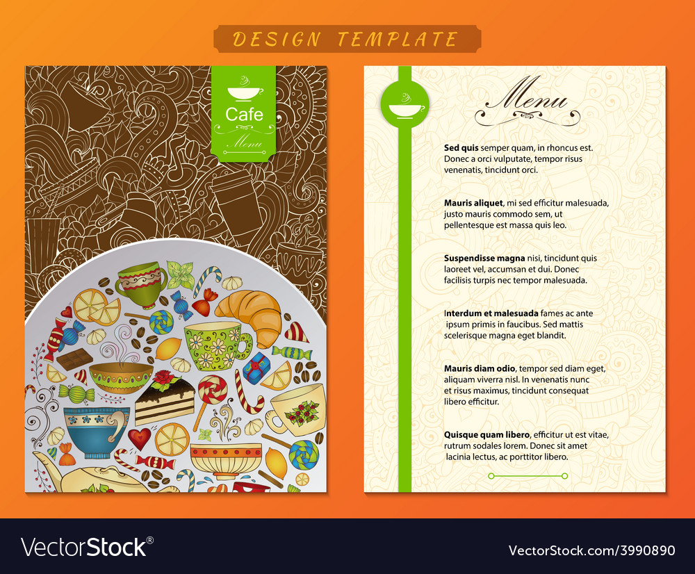 Corporate identity cafe restaurant firm style vector | Price: 1 Credit (USD $1)