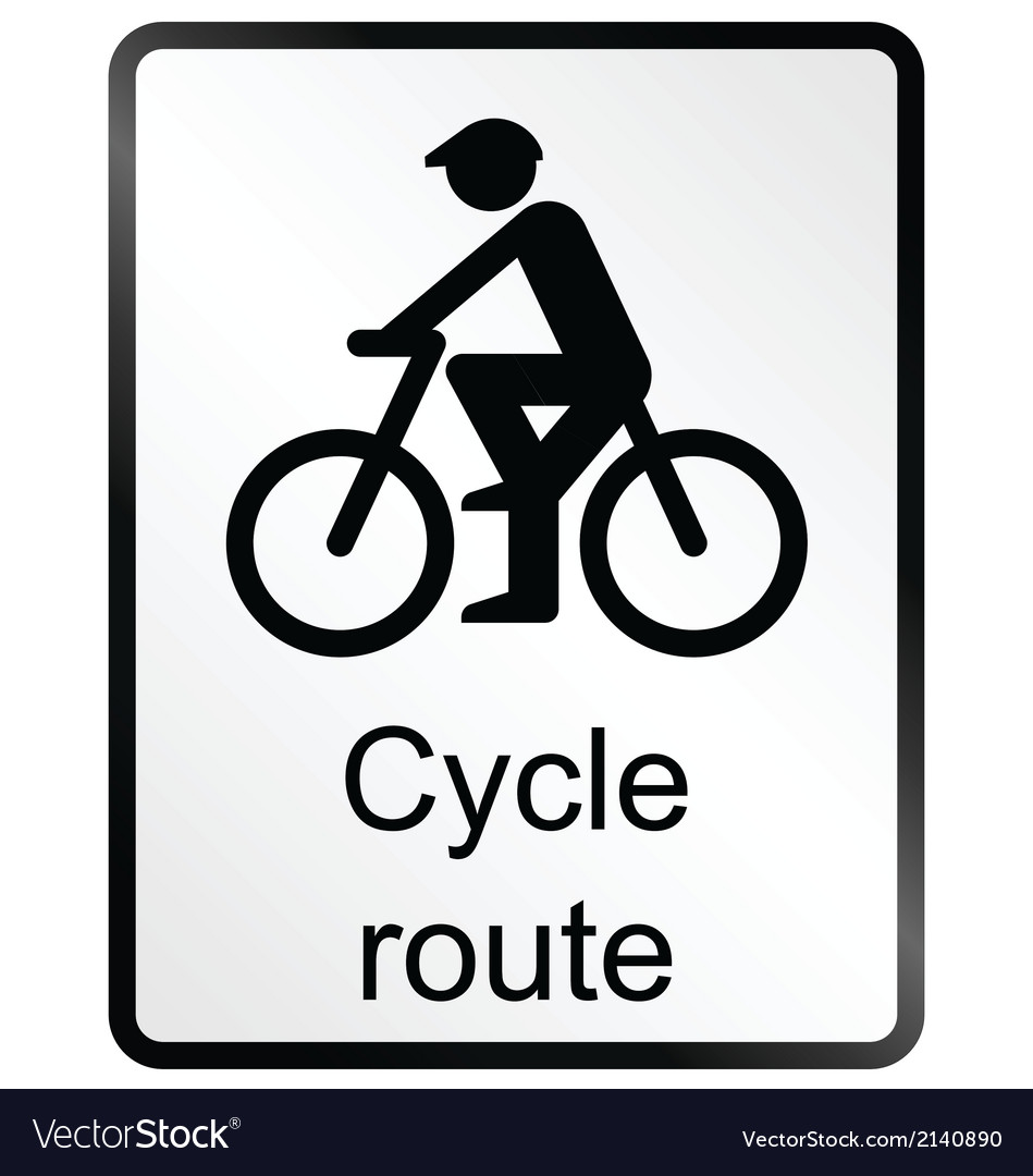 Cycle route information sign vector | Price: 1 Credit (USD $1)