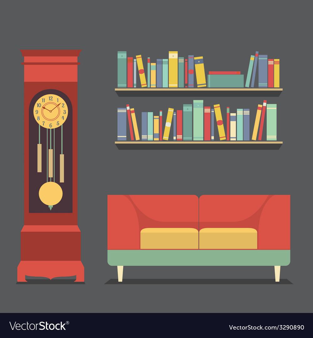 Living room interior design vector | Price: 1 Credit (USD $1)