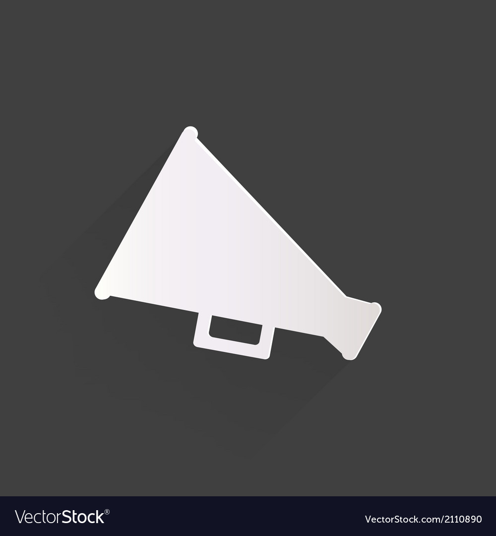 Megaphone oudspeaker icon loud-hailer symbol vector | Price: 1 Credit (USD $1)