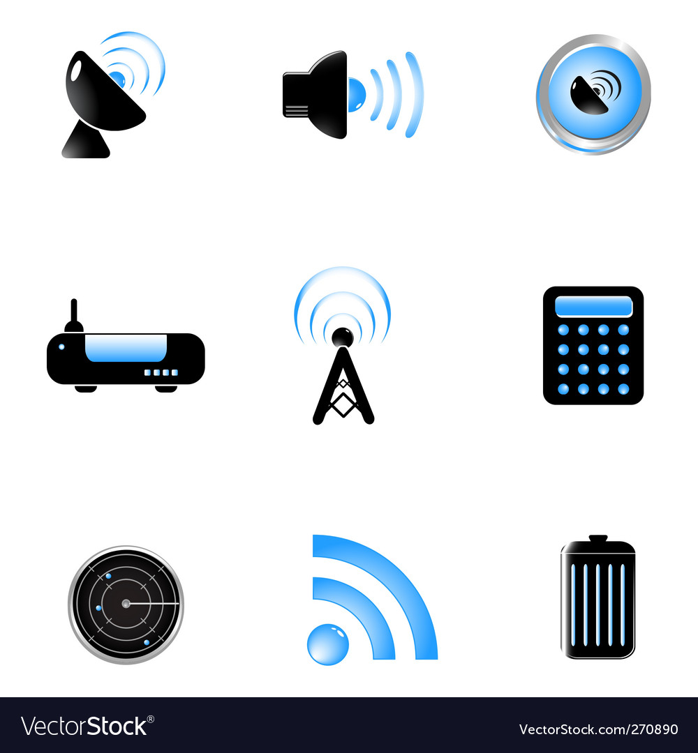 set light blue internet vector | Price: 1 Credit (USD $1)