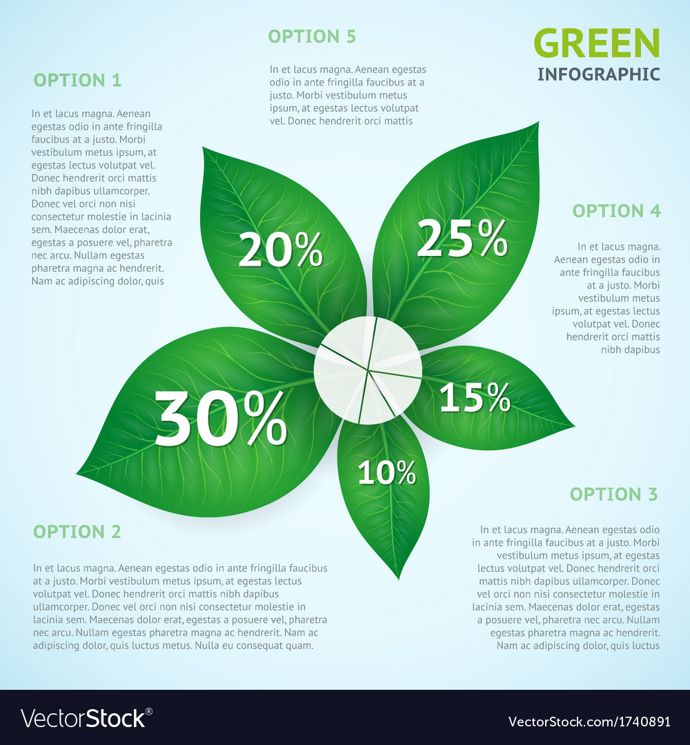 Eco green infographics concept vector | Price: 1 Credit (USD $1)