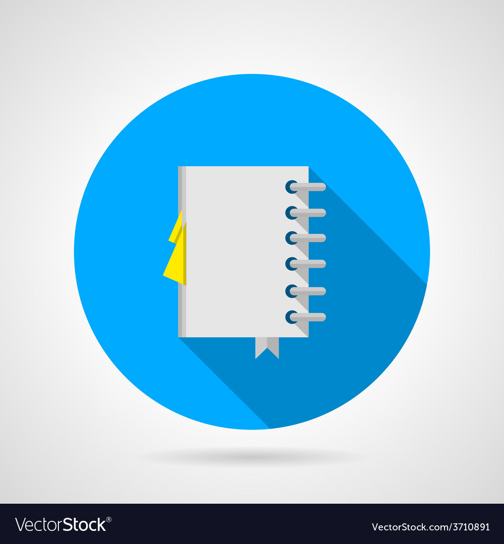 Flat icon for office notebook vector | Price: 1 Credit (USD $1)