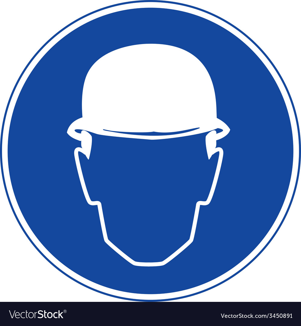 Hard hats must be worn safety sign vector | Price: 1 Credit (USD $1)