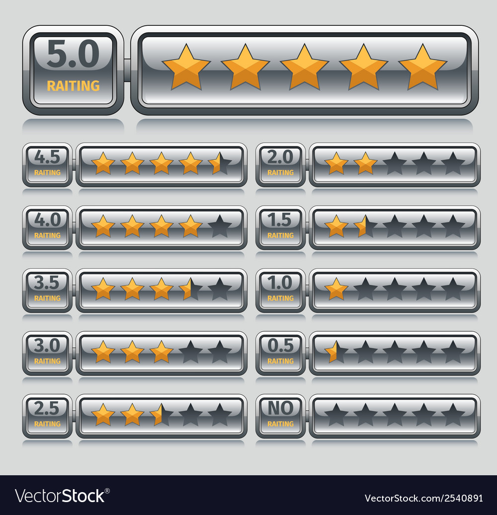 Rating stars set vector | Price: 1 Credit (USD $1)