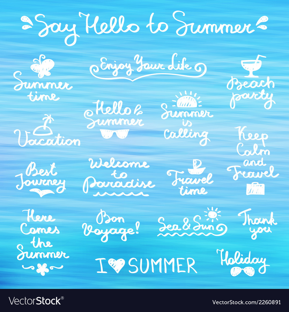 Summer letterings vector | Price: 1 Credit (USD $1)