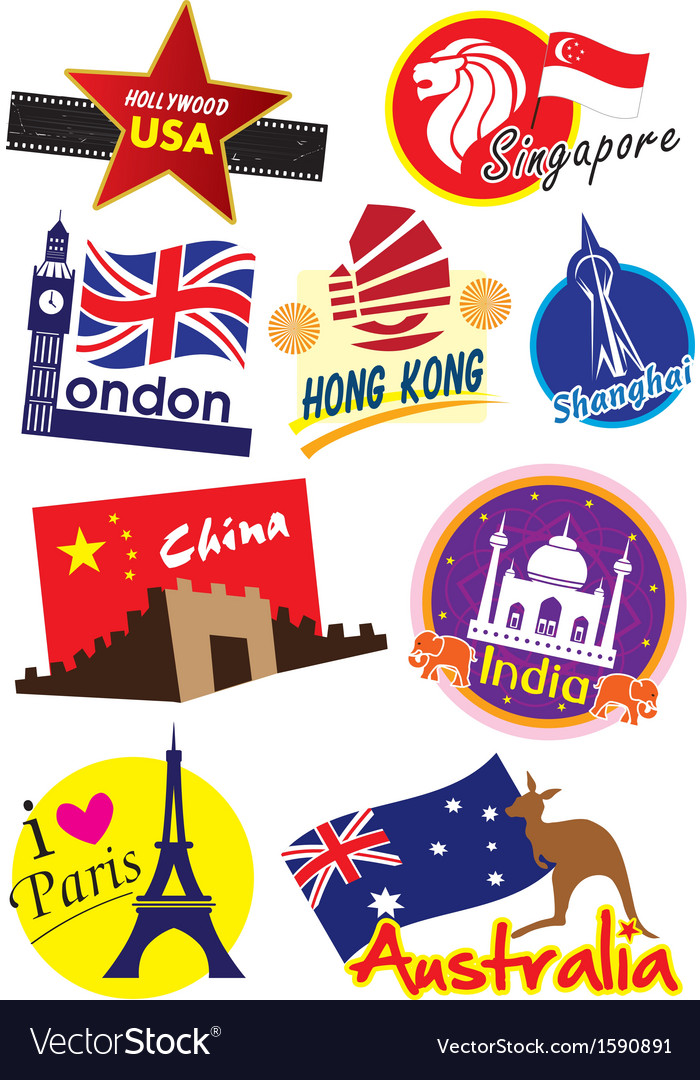 Travel sticker vector | Price: 1 Credit (USD $1)