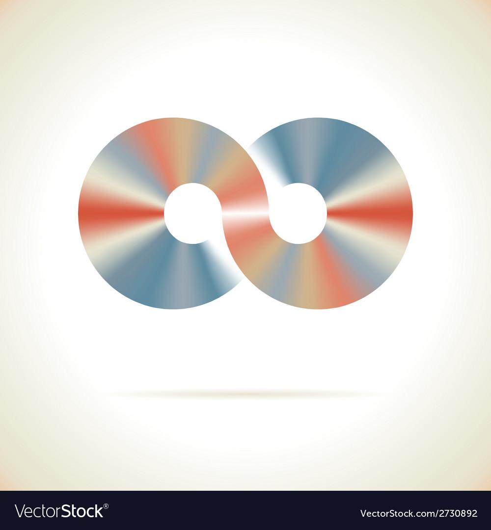 Abstract logo design template disco symbol vector   Price: 1 Credit (USD $1)