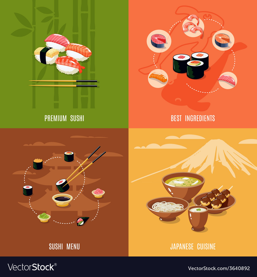Asian food design concept vector | Price: 1 Credit (USD $1)